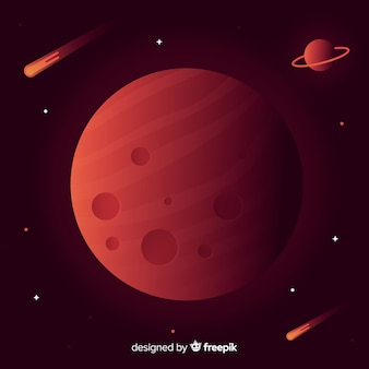 화성 풍경 배경