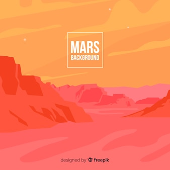 Mars landscape background