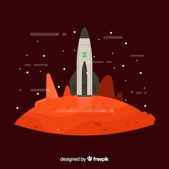 Mars landscape background