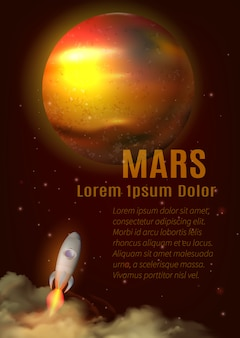 Mars planet poster