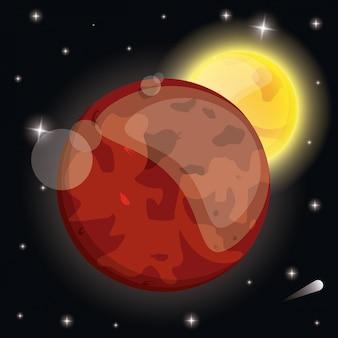 화성 행성 햇빛 시스템 공간