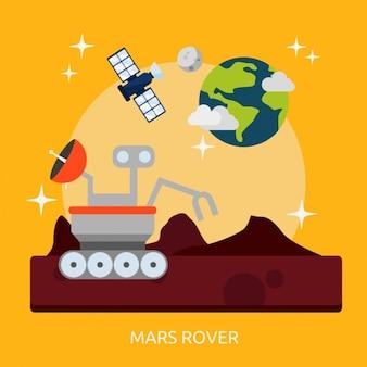 火星探査車の背景デザイン