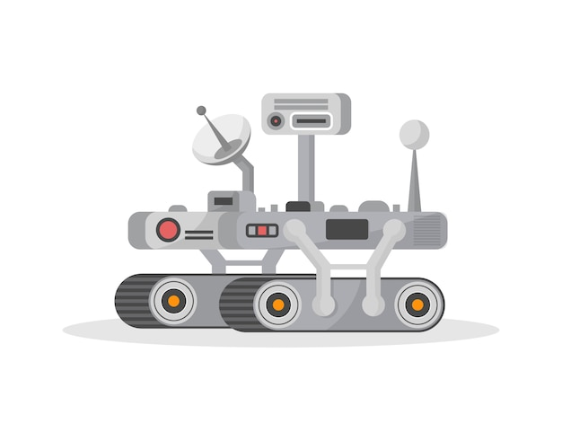 Mars rover isolated  icon