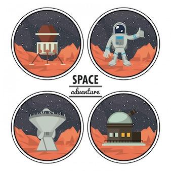 Mars space adventure cartoons