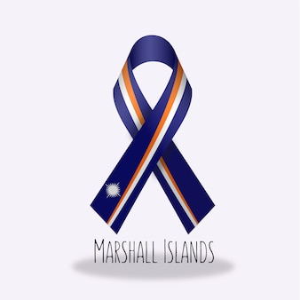 Marshal islands flag ribbon design