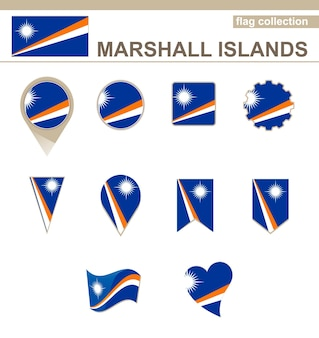 Marshall islands flag collection, 12 versions