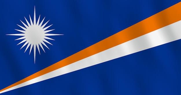 マーシャル諸島の旗を振る効果、公式の比率。