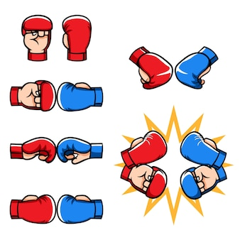 Martial arts half finger gloves cartoon collection