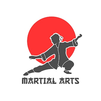 Martial arts logo illustration