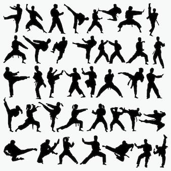 格闘技のシルエット