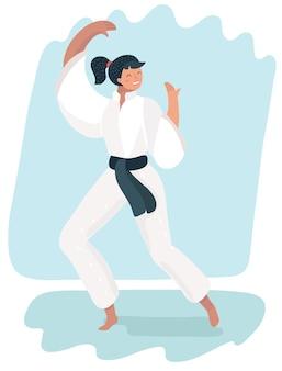 Martial arts woman in kimono