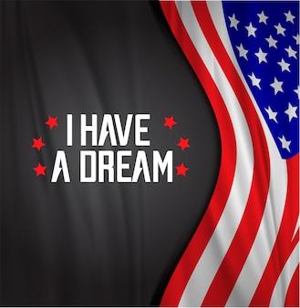 マーティンルーサーアメリカの旗