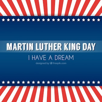 Martin luther king background in flat design