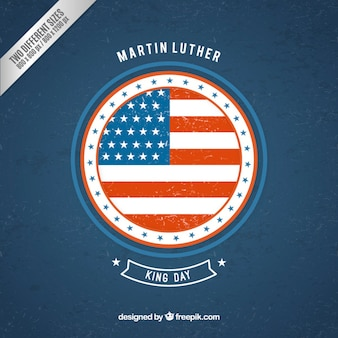 Martin luther king background with a round flag