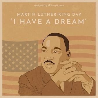ヴィンテージスタイルでマーティン・ルーサー・キングの日の背景