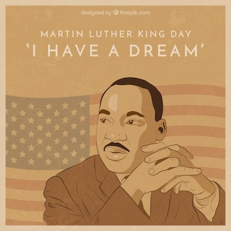 Martin luther king day background in vintage style