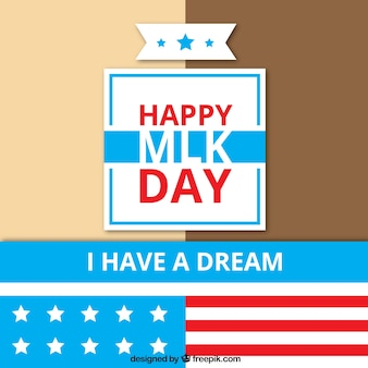 Martin luther king day background with stars and red details