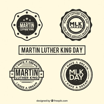 Martin luther king day badges set