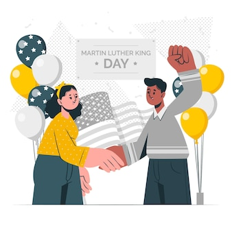 Martin luther king day concept illustration