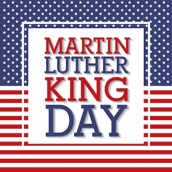 Martin luther king day flag national frame decoration