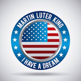 Martin luther king i have a dream button flag