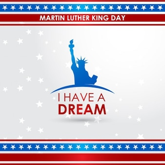 Martin luther king jr. day, background with stars