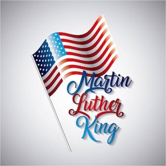 マーティンルーサーキング、メタルポールシンボルの旗