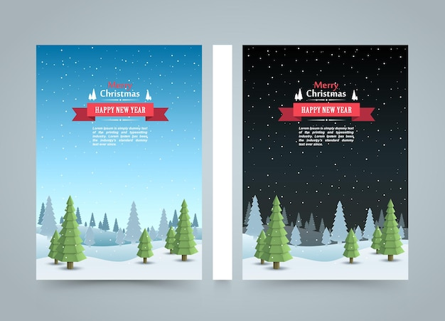 Mary christmas cover art, happy new year flyer background, template design element, vector illustration