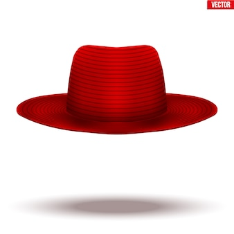 메리 포핀스 빨간 모자는 흰색 바탕에. 유모와 베이비 시터의 상징.