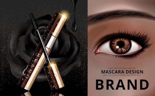 ブランディング用マスカラデザインカード