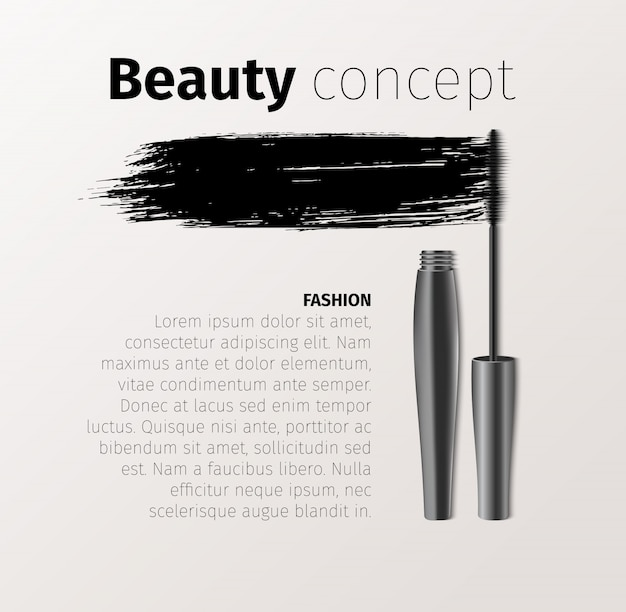 Mascara fashion banner template