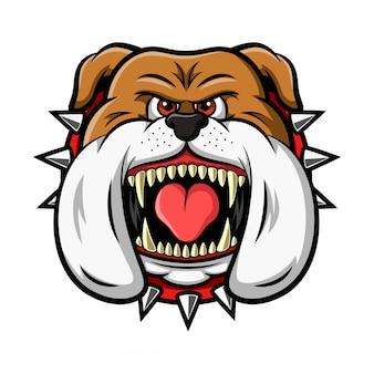 Mascot of angry bulldog head illustration