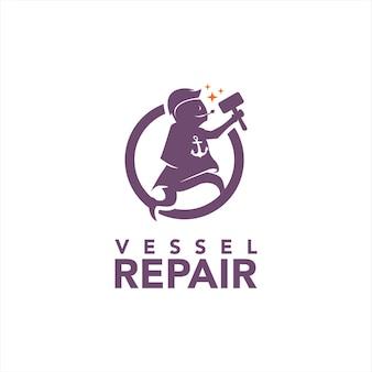 Mascot for boat and vessel repair