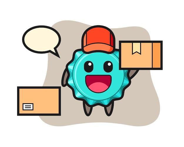 Mascot bottle cap as a courier