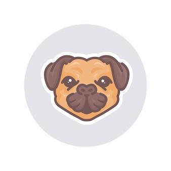 マスコット牛犬のイラスト。ロゴやマスコットに最適