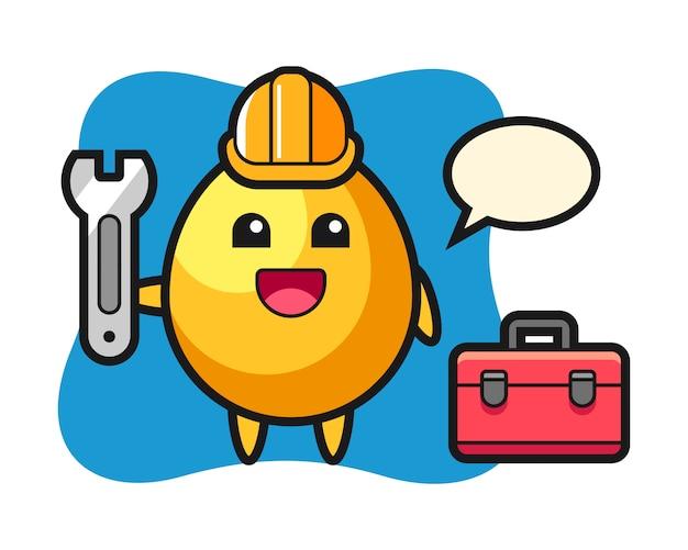 정비공, 귀여운 스타일 디자인으로 황금 알의 마스코트 만화