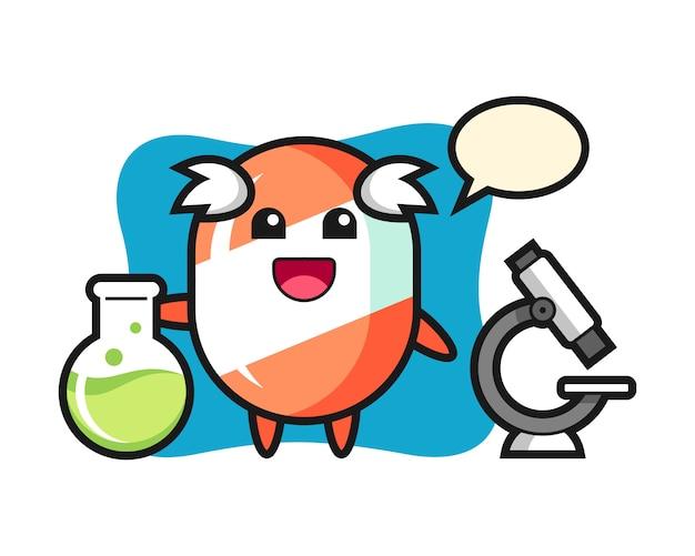 科学者としてのキャンディーのマスコットキャラクター