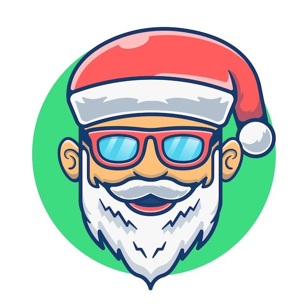 Mascot cute santa claus with a hat