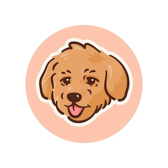 Mascot dog poodle illustration, perfect for logo, or mascot