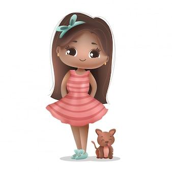 Mascot and dog