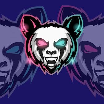 Mascot esport logo gaming gameアニマルangry