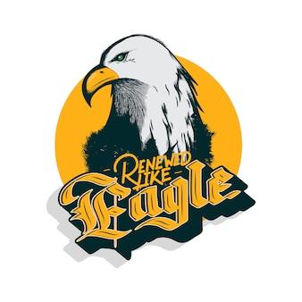 Mascot head of eagle