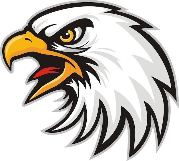 Mascot head of an eagle