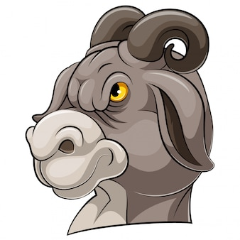 Mascot head of an goat