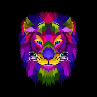 Mascot head lion king
