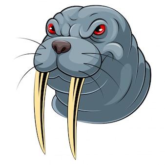 Mascot head of an walrus