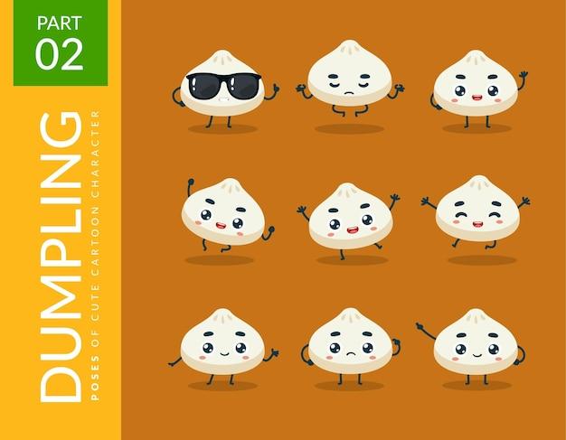 Immagini mascotte del simpatico gnocco. impostato.