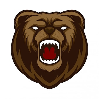 Mascot logo angry bear