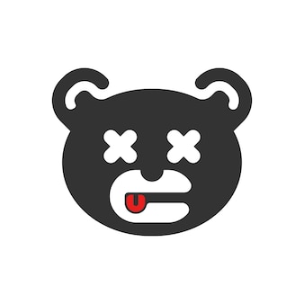 Mascot logo bear with two cubs photography