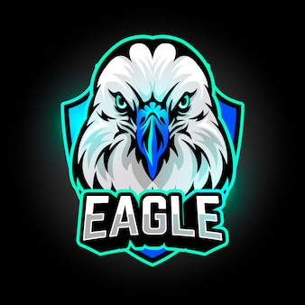 Mascot logo design with eagle